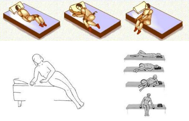 Como levantarse correctamente de la cama